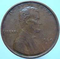 LaZooRo: United States Of America 1 Cent 1969 D XF / UNC - Emissioni Federali