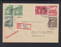 Dt. Reich ZD Auf Ortsbrief 1941 Schwerin - Se-Tenant