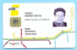 Belgie Belgique Belgium 2019 Bus Kaart Jaarabonement DE LIJN  65+ - Europe