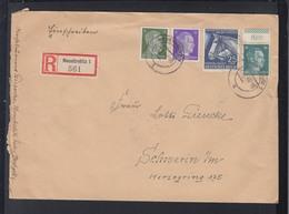 Dt. Reich R-Brief 1942 Neustrelitz Nach Schwerin - Storia Postale