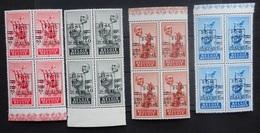 BELGIE 1948    Nr.  803 - 806  Blokken Van 4     Postfris ** - Belgique