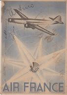"""CARTOLINA PUBBLICITARIA - """"AIR FRANCE"""" - VIAGGIATA 1937 DA SAN PAOLO DEL BRASILE A TORINO - Pubblicitari"""