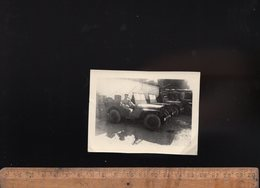 Photographie Photo Automobiles Auto JEEP Willys Military Car Voiture Automobile Militaire - Coches