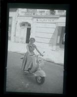 Negatif Photo Ancienne - Scooter - Automobiles