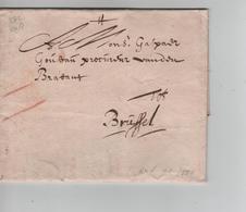 13PR/ Précurseur LAC Daté Antwerpen ? 1680 Port 2 Craie Rouge > Brussel (Bruxelles) - 1621-1713 (Pays-Bas Espagnols)