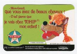 CdV °_ Coiffure-Tchip-62-St-Omer-Loup Beaux Cheveux- R/V - Cartes De Visite