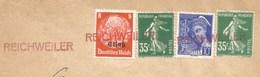 SK610 - REICHWEILER En ROUGE - 1940 - RICHWILLER - Griffe Caoutchouc Provisoire - Gummistempel - Haut Rhin - - Alsace Lorraine