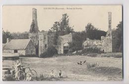 COUESMES - Ruines De Froulay  - Fillette à Vélo Près Du Puits - Animée - Sonstige Gemeinden