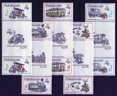 1987 Czechoslovakia MNH - Mi 2911-2915 Zf. ** MNH - Ungebraucht