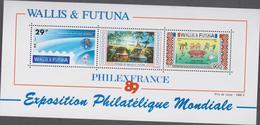 WALLIS ET FUTUNA 1 Bloc Feuillet Neuf Xx  N° YT BF 4 - 1989 -Philexfrance89 - Blocchi & Foglietti