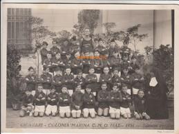 CHIAVARI COLONIA MARINA FIAT 1931 SQUADRA 6° - FOTO ORIGINALE - Persone Anonimi