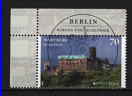 BUND Mi-Nr. 3310 Eckrandstück Links Oben - Europa: Burgen Und Schlösser Wartburg Gestempelt - BRD