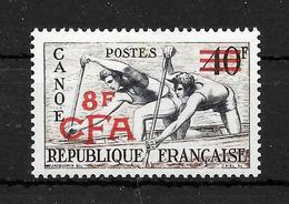 "LA REUNION : N° 314  ""Canoé""  Neuf **  (cote : 44,oo €) - La Isla De La Reunion (1852-1975)"