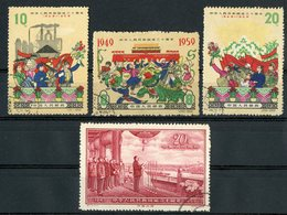 CHINA / CHINE 1959 N° 1242 (val. 60 €) + 1239 + 1240 + 1241 (used/oblitérés) - 1949 - ... People's Republic