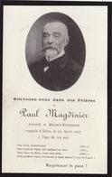 Faire Part Paul Magdinier Avoué à Saint étienne 1907 - Obituary Notices