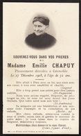 Faire Part émilie Chapuy Grenoble 1908 - Overlijden