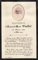 Faire Part Amand Viallet 1890 Photographie - Overlijden