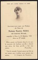 Faire Part Maurice Morel Née Laurence Mirande - Overlijden