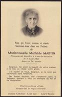Faire Part Mathilde Martin Lons Le Saunier - Overlijden