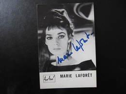 Carte Autographe - MARIE LAFORET - Carte Festival - Autografi