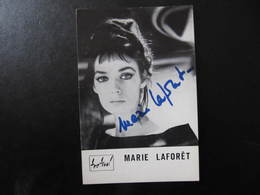 Carte Autographe - MARIE LAFORET - Carte Festival - Autographes