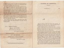 Diocèse De Beauvais, Mortefontaine 1862 Abbé Vivet , Mlle De Mauroy - Sin Clasificación