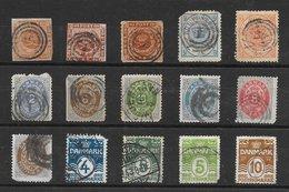 Danemark Classiques Lot De 15 Tp (dont N°4, 8, 10, 11, 13, 16, 19, 20) 1854-1930 O - Danemark