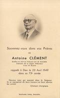 Faire Part Antoine Clément Greffier Grenoble Légion D'honneur Croix De Guerre - Overlijden