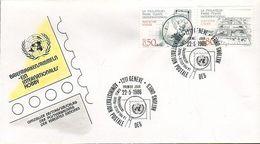 UN Genf Nr.143-144 FDC Briefmarkensammeln - FDC