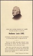 Faire Part Louis Linel - Overlijden