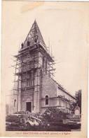 CPA : Hartennes Et Taux , L'Eglise , Echafaudage - Autres Communes
