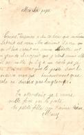 Vieux Papier, Souvenir De 14-18, Lettre D'enfants à Leur Père Lors De La Libération De Mulhouse En 1914 - Documents Historiques