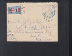 Lettre 1949 Post Aux Armes Madagascar - 1921-1960: Modern Period