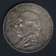 China, 1 Dollar Jahr 3 (=1914), Silber, Original, XF! - China