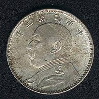 China, 20 Cents Jahr 3 (=1914), Silber, Original, XF! - China