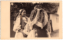 BANAT - COMUNA SECUSIGIU - ARAD : TYPES DU VILLAGE / COSTUMES - CARTE VRAIE PHOTO / REAL PHOTO POSTCARD ~ 1930 (ad419) - Roumanie