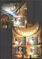 ST2833 2013 NIGER TRIBUTE TO POPE BENEDICT XVI PAPE BENOIT XVI 1KB+1BL MNH - Popes