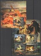ST2836 2013 NIGER ART 150TH ANNIVERSARY EUGENE DELACROIX 1KB+1BL MNH - Arts