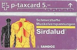 Switzerland: PTT P - KP-95/22A 501L Sandoz-Wander AG, Sirdalud - Schweiz