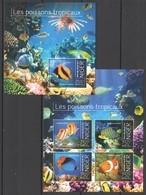 ST2847 2013 NIGER MARINE LIFE FISHES LES POISSONS TROPICAUX KB+BL MNH - Meereswelt