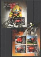 ST2853 2013 NIGER HISTORY FIRE TRUCK LES VOITURES DE POMPIERS 1KB+1BL MNH - Vrachtwagens
