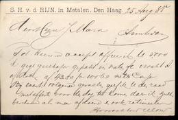Den Haag - V.d. Rijn Handel In Metalen - 25 AUG 88 Geuzendam - Postal History