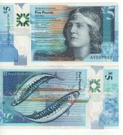 "SCOTLAND   £5  Just Issued ""Royal Bank Of Scotland""  P370   ""POLIMER""   (Makerel - Fish At Back)   Dated   11.02.2016 - Schotland"