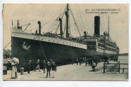 17 LA PALLICE ROCHELLE Le Paquebot Poste Anglais ORCOMA à  Quai Port 1926 écrite Timbrée  D20 2019 - La Rochelle