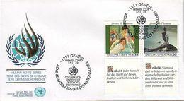 UN Genf Nr.180-181 FDC Menschenrechte - Deutsch - FDC