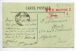 """88 DARNIEULLES  Cachet """" G V C Section A Chef De .. Gare Darnieulles """"  écrite En 1915   D20 2019 - Sonstige Gemeinden"""