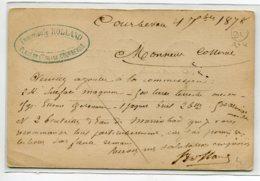 92 COURBEVOIE écrite 1878 Timbrée Par Pharmacien ROLLAND  Passage Dune Commande   D20 2019 - Courbevoie