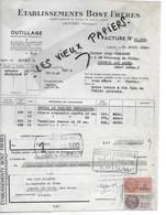 25 - Doubs - LAISSEY - Facture BOST - Outillage - 1949 - REF 128C - 1900 – 1949