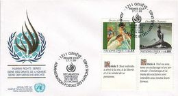 UN Genf Nr.180-181 FDC Menschenrechte - France - FDC