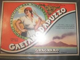 FOGLIO PUBBLICITARIO PASTA GRAGNANO DITTA GAETANO D'APUZZO 19X14 - Pappschilder